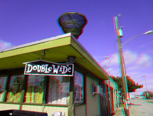 DOUBLE WIDE BAR DALLAS TX 3D RED CYAN ANAGYLPH