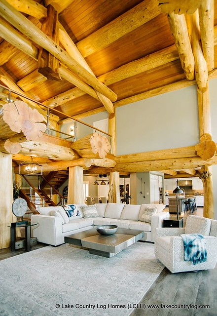 Lake Country Western Red Cedar Post and Beam Log Home - British Columbia 00007