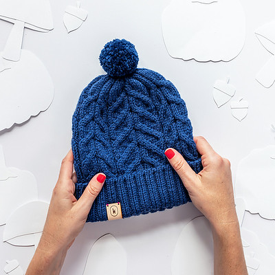 Cabled Hat Class with Jen - Tuesday's, Feb 4, 11 & 25 from 6 to 8 pm - Pattern is Sloane Rosenthal's October Hat.