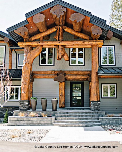 Lake Country Western Red Cedar Post and Beam Log Home - British Columbia 00006