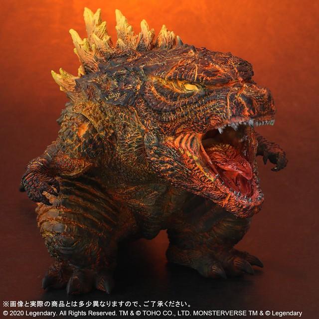X-PLUS DEFOREAL 《哥吉拉2:怪獸之王》紅蓮哥吉拉(2019)|デフォリアル バーニング・ゴジラ(2019)
