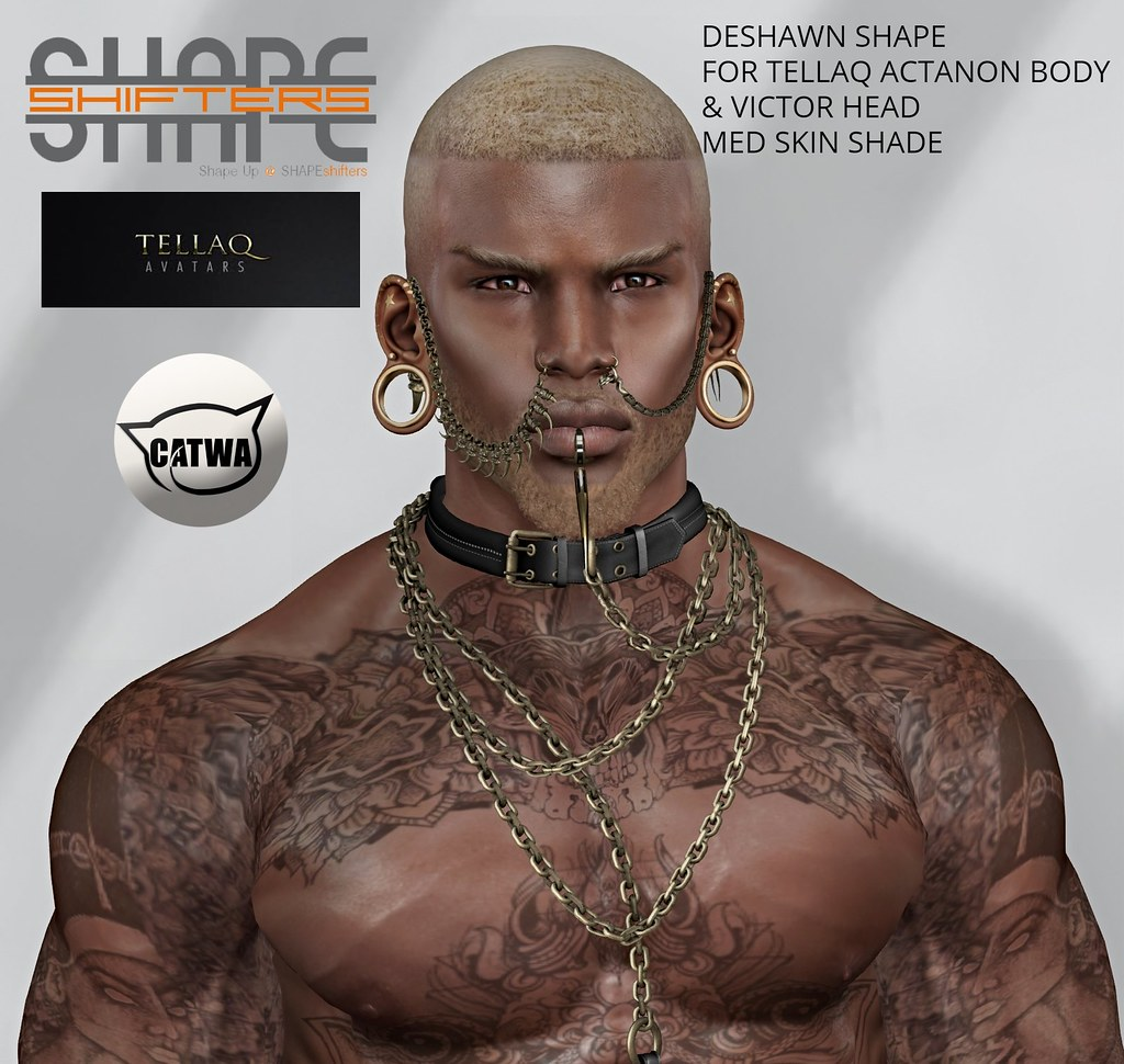[SHAPEshifters] DESHAWN SHAPE FOR TELLAQ ACTANON BODY & VICTOR HEAD (1)