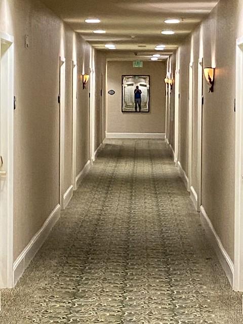 I can't sleep hotel hallway blues.