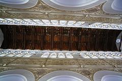 The wooden ceiling of the Synagogue of Santa María la Blanca, Toledo