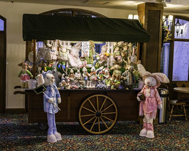gift cart inside the Bavarian Inn in Frankenmuth