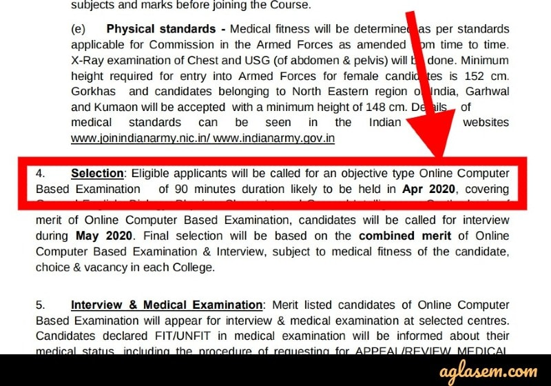 Indian Army BSc Nursing 2020 Official Exam Date