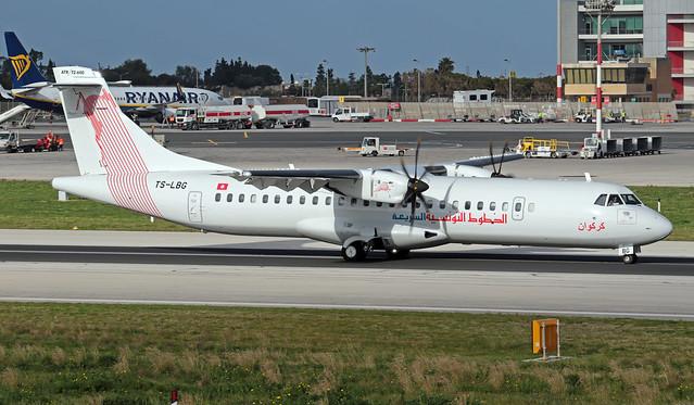 TS-LBG LMML 24-01-2020 Tunisair Express ATR 72-212A(600) cn 1625