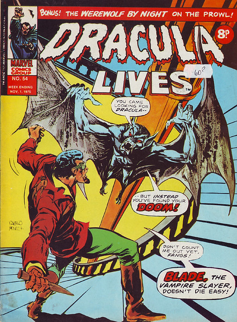 Comic Book Cover Dracula Lives 1975 No. 54
