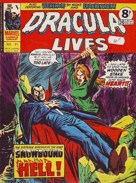 Comic Book Cover Dracula Lives 1975 No. 41