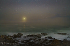 Venus Sets through the Fog