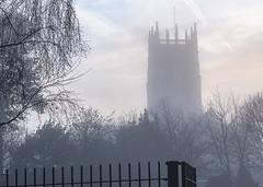Church foggy from school