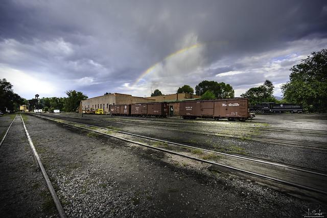 Rainbow view in Cumbres & Toltec Scenic Railroad Chama - New Mexico - USA