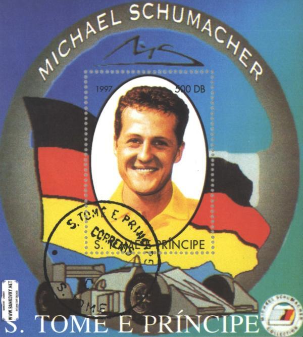 Známky Sv. Tomáš 1997 Michael Schumacher