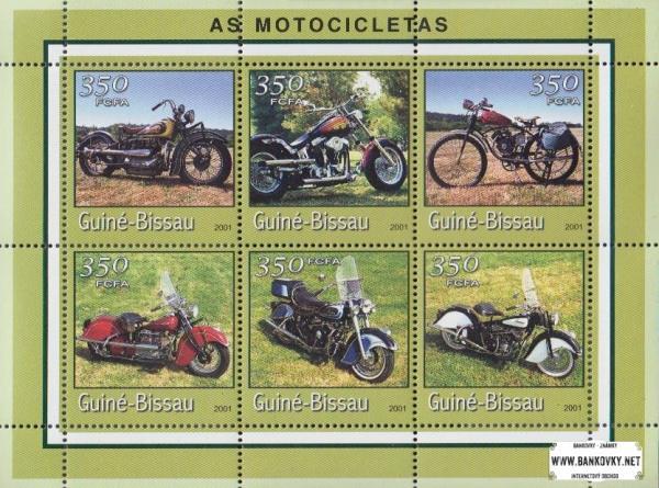 Známky Guinea Bissau 2001 Motorky