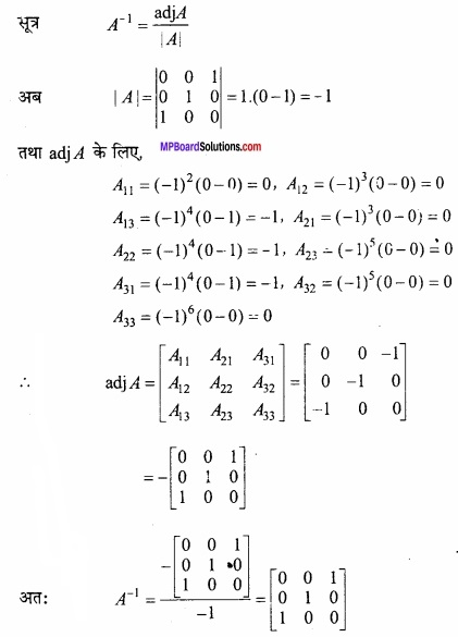 MP Board Class 12th Maths Important Questions Chapter 3 आव्यूह img 23