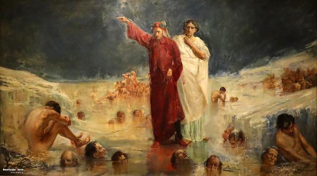 Dante y Virgilio en el infierno, 1912, Pedro Alcantara Quijano Moreno