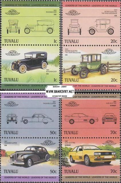 Známky Tuvalu 1985 Staré automobily, séria MNH