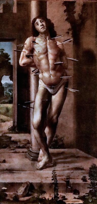 IMG_8734M Pedro Berruguete 1450-1505 Espagne Saint Sébastien  Urbino Galleria Nazionale delle Marche