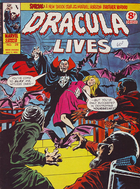Comic Book Cover Dracula Lives 1975 No. 28