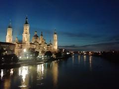 Zaragoza at blue hour