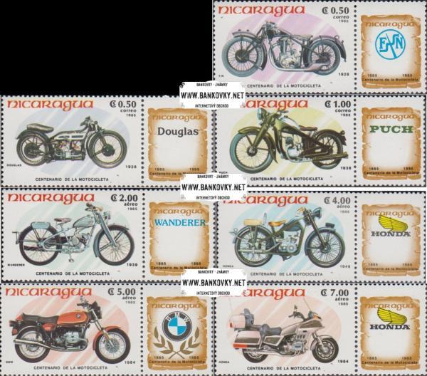 Známky Nicaragua 1985 Motorky