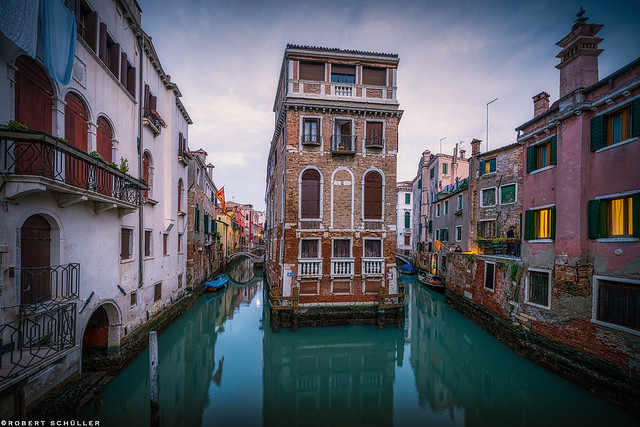 Venice, a house in the middle of the water.