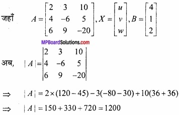 MP Board Class 12th Maths Important Questions Chapter 3 आव्यूह img 33