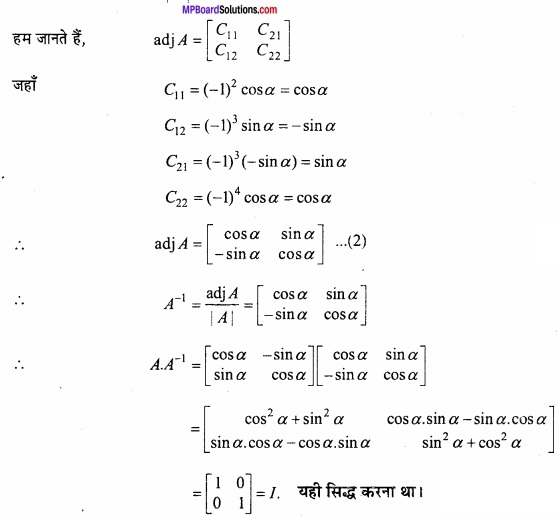 MP Board Class 12th Maths Important Questions Chapter 3 आव्यूह img 16