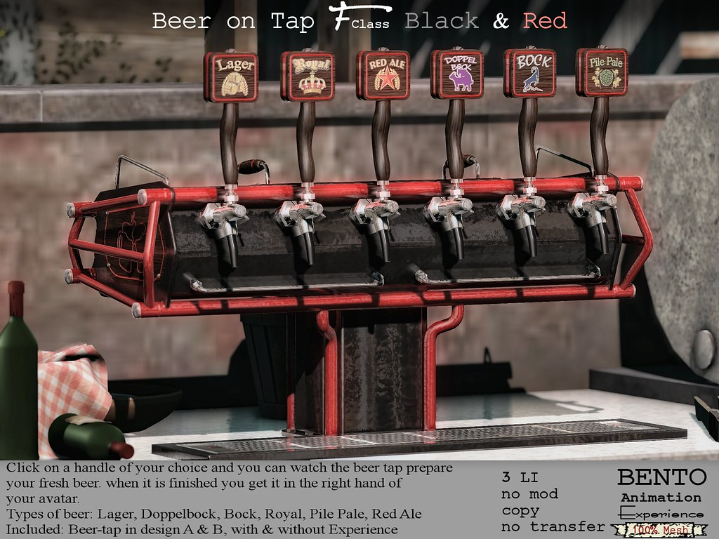 F-Class Beer tap black & red