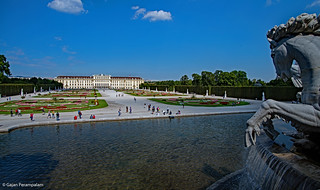 Schönbrunn Palace and Gardens from Neptune Fountain | by Gajan Perampalam