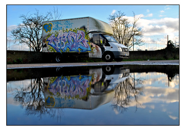 GRAFFITIED VAN - SOUTHALL