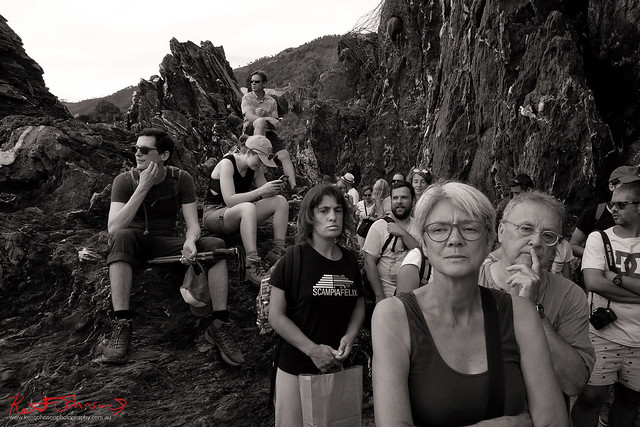 Waiting for the boat at Riomaggiore