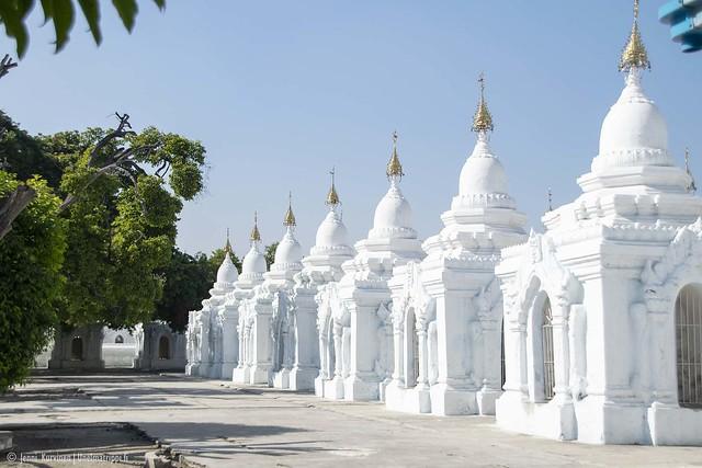 Kuthodaw-pagodi, Mandalay, Myanmar