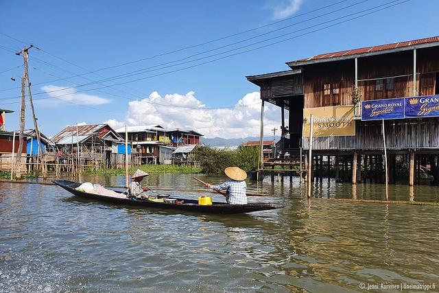 Elämää Inlejärvellä Myanmarissa