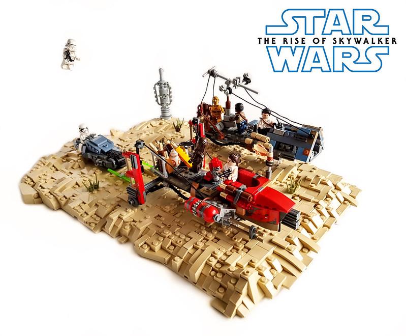 Moc Star Wars Episode Ix The Rise Of Skywalker Speeder Chase On Pasaana Lego Star Wars Eurobricks Forums