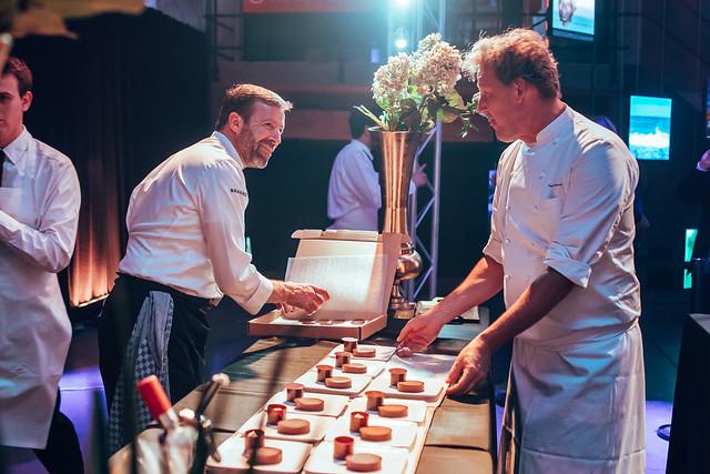 2-star chef Lionel Rigolet (Comme Chez Soi) and Chocolatier Pierre Marcolini