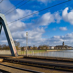 13. Jaanuar 2020 - 14:23 - De spoorbrug over de IJssel met gezicht op het Deventer stadsfront. Panorama 4 exp. photoshop. Edit in Lightroom en Luminar4.