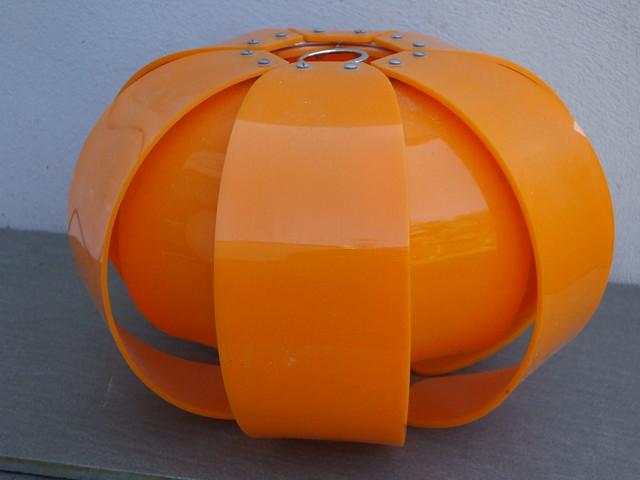 Vintage 1970's Bright Orange Space Age Lampshade Mid Century Modern