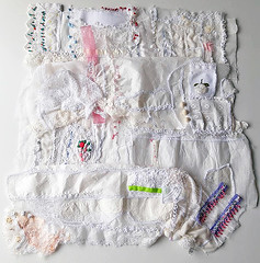 hand pieced and hand embroidered pages