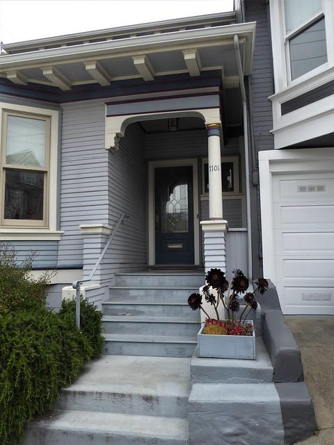 San Francisco, CA, Noe Valley, Victorian House, Entrance