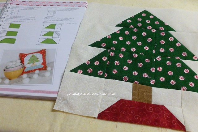 Vintage Christmas Tree Block at FromMyCarolinaHome.com