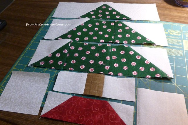 Vintage Christmas Tree Block at FromMyCarolinaHome.com