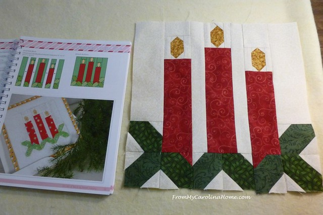 Vintage Christmas Candle Block at FromMyCarolinaHome.com