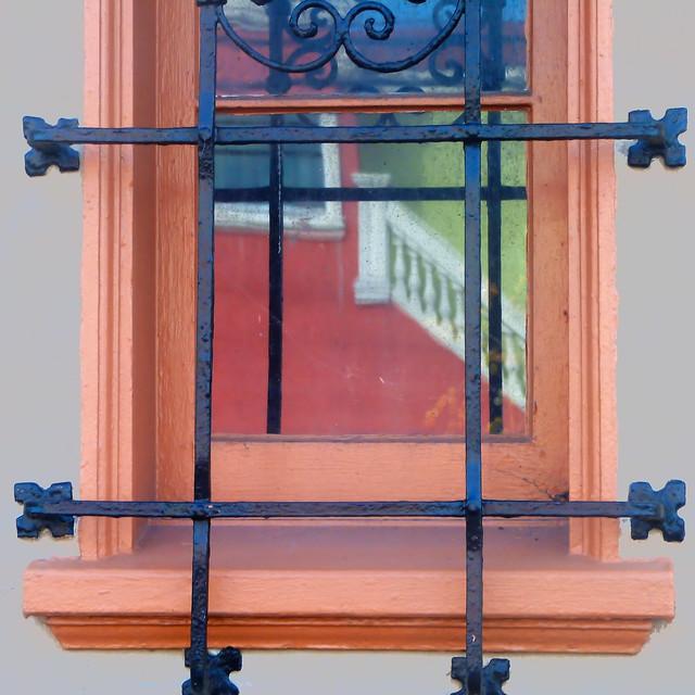 reflecting colorful neighbors