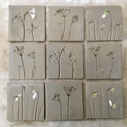 Ceramic plant tiles