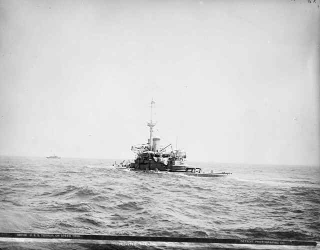 USS Terror (M-4) during speed trials 1890-1901.