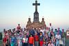 Abschiedsfoto am Kalvarienberg anläßlich der 250-Jahrfeier seit der Gründung der Gemeinde Billed 2015