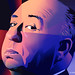 Maria Zaikina, Alfred Hitchcock, illustration for https://www.the-village.ru/village/weekend/specials-weekend/372085-lg-oled