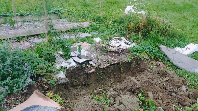 1. Dig ditch deeper than planting depth.