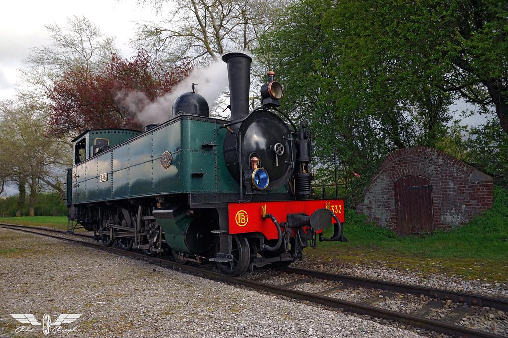 Locomotive 230 Fives-Lille N° E 332 - Festival Chemin de fer de la baie de Somme CFBS 2016